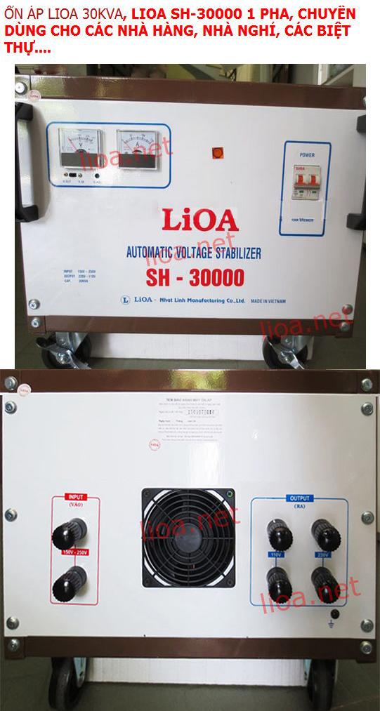 GIỚI THIỆU LIOA 30KVA MODEL SH-30000