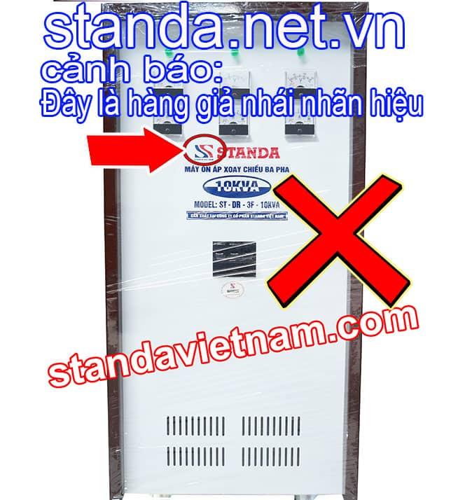 Đây là ổn áp Standa 10kVA 3f giả nhái nhãn hiệu-Xin Cảnh Báo