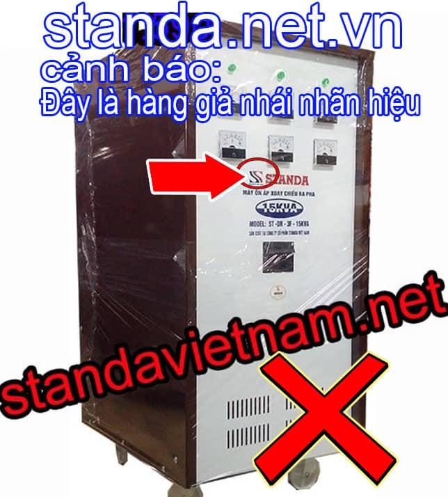 Đây là ổn áp Standa 15kVA 3f giả nhái nhãn hiệu-Xin Cảnh Báo