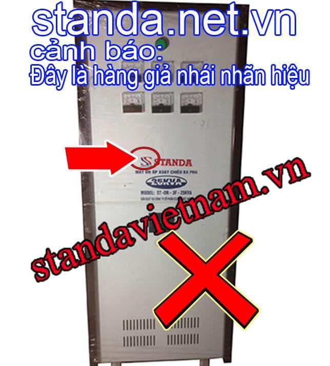 Đây là ổn áp Standa 20kVA 3f giả nhái nhãn hiệu-Xin Cảnh Báo
