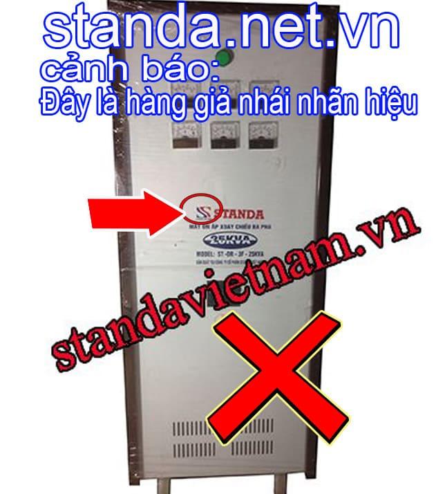 Đây là ổn áp Standa 25kVA 3f giả nhái nhãn hiệu-Xin Cảnh Báo