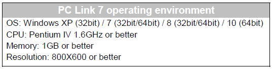 pc link 7 operating environment