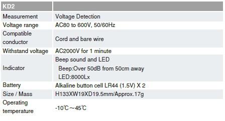 Bút thử điện Sanwa KD2