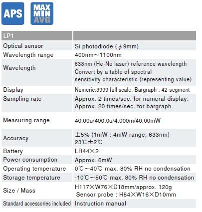 Thiết bị đo công suất laser Sanwa LP1