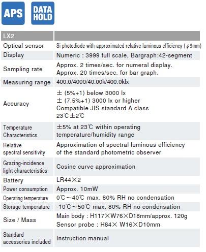 Thiết bị đo cường độ ánh sáng Sanwa LX2