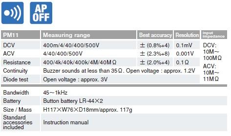 Đồng hồ đo đa năng chỉ thị số Sanwa PM11