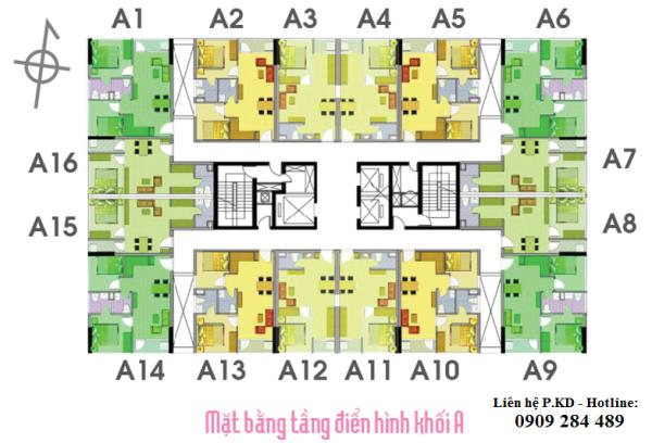 Mặt bằng tầng căn hộ Lotus Apatrment