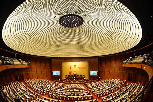 Hệ thống chiếu sáng toàn Nhà Quốc hội gồm 21.000 bộ đèn nội thất