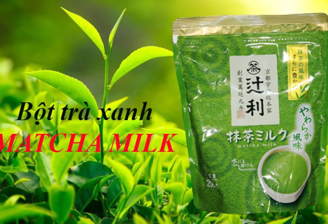 bột trà xanh matcha milk Nhật 4901305410197