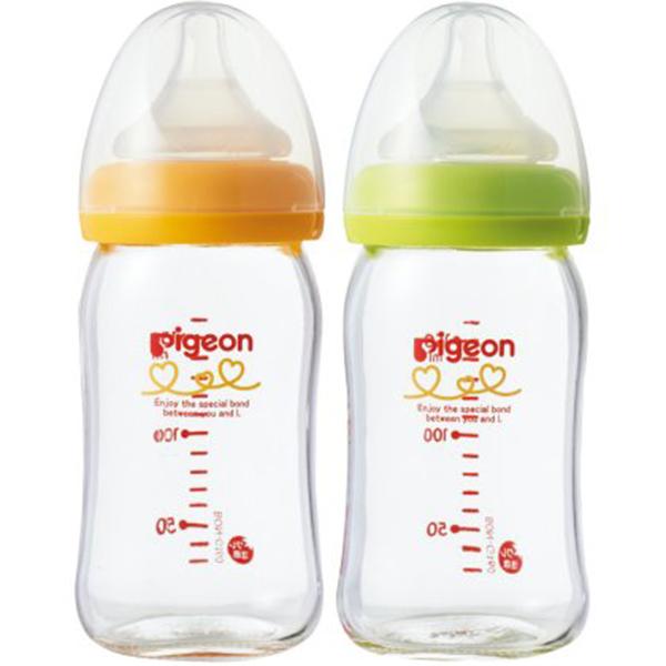 bình sữa thủy tinh cổ rộng pigeon Nhật