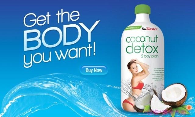 giảm mỡ thừa , đẹp dáng detox coconuit của úc