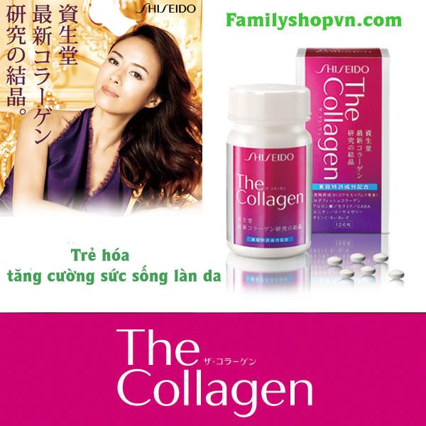 Tác dụng collagen shisheido dạng viên nhật bản