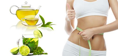 Uống trà xanh giảm béo
