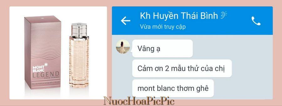 Nuoc Hoa Mont Blanc Legend Edp - Nuoc Hoa Pic Pic