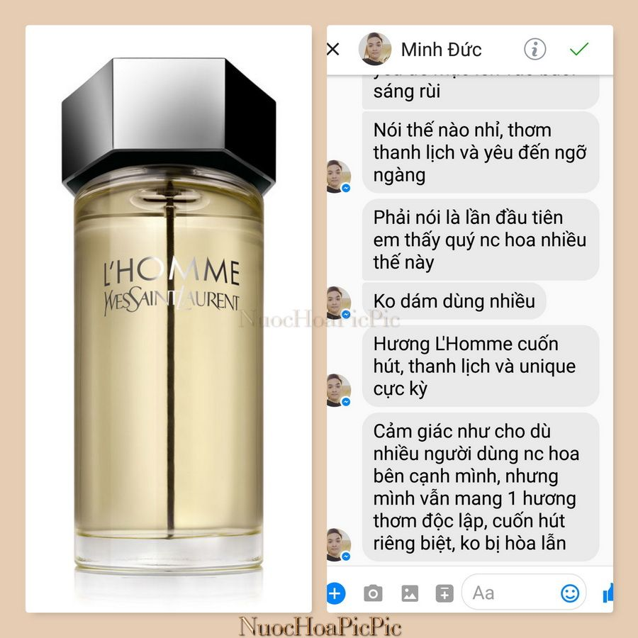 Nuoc hoa Ysl L'Homme - Nuoc Hoa Pic Pic