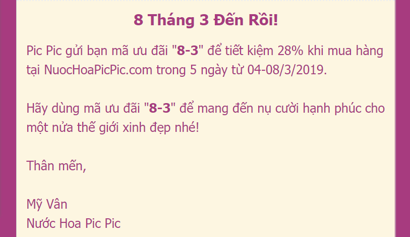 NUOC HOA PIC PIC SALE 8-3