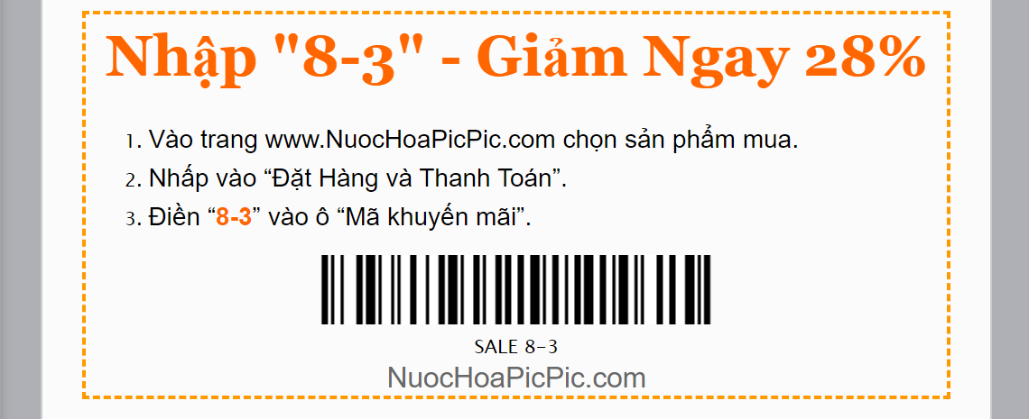 NUOC HOA PIC PIC SALE 8.3