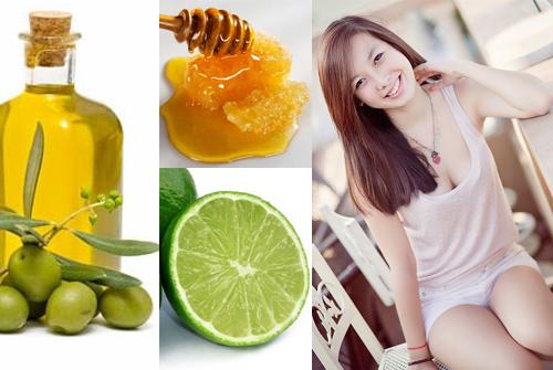 Trị nám da với mật ong, chanh, dầu oliu