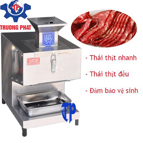 HÌnh ảnh máy thái thịt bò tươi sống Trường Phát