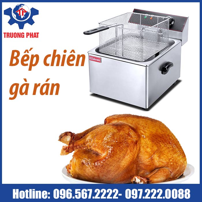 bếp chiên gà rán