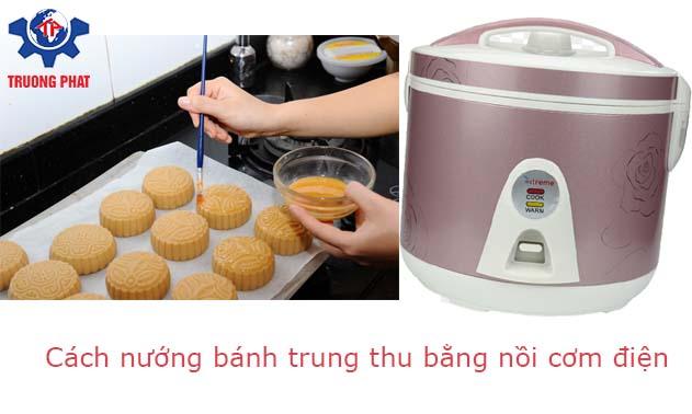 Cách nướng bánh trung thu bằng nồi cơm điện
