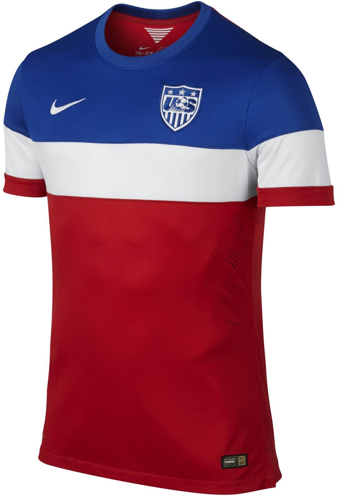 Quần áo bóng đá Mỹ sân khách WC 2014
