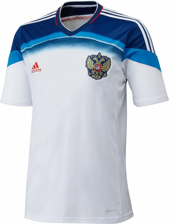 Quần áo bóng đá Nga trắng sân khách WC 2014