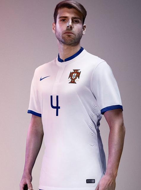 Quần áo bóng đá Bồ Đào Nha trắng sân khách 2014 4