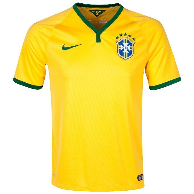 Quần áo bóng đá Brazil sân nhà 2014