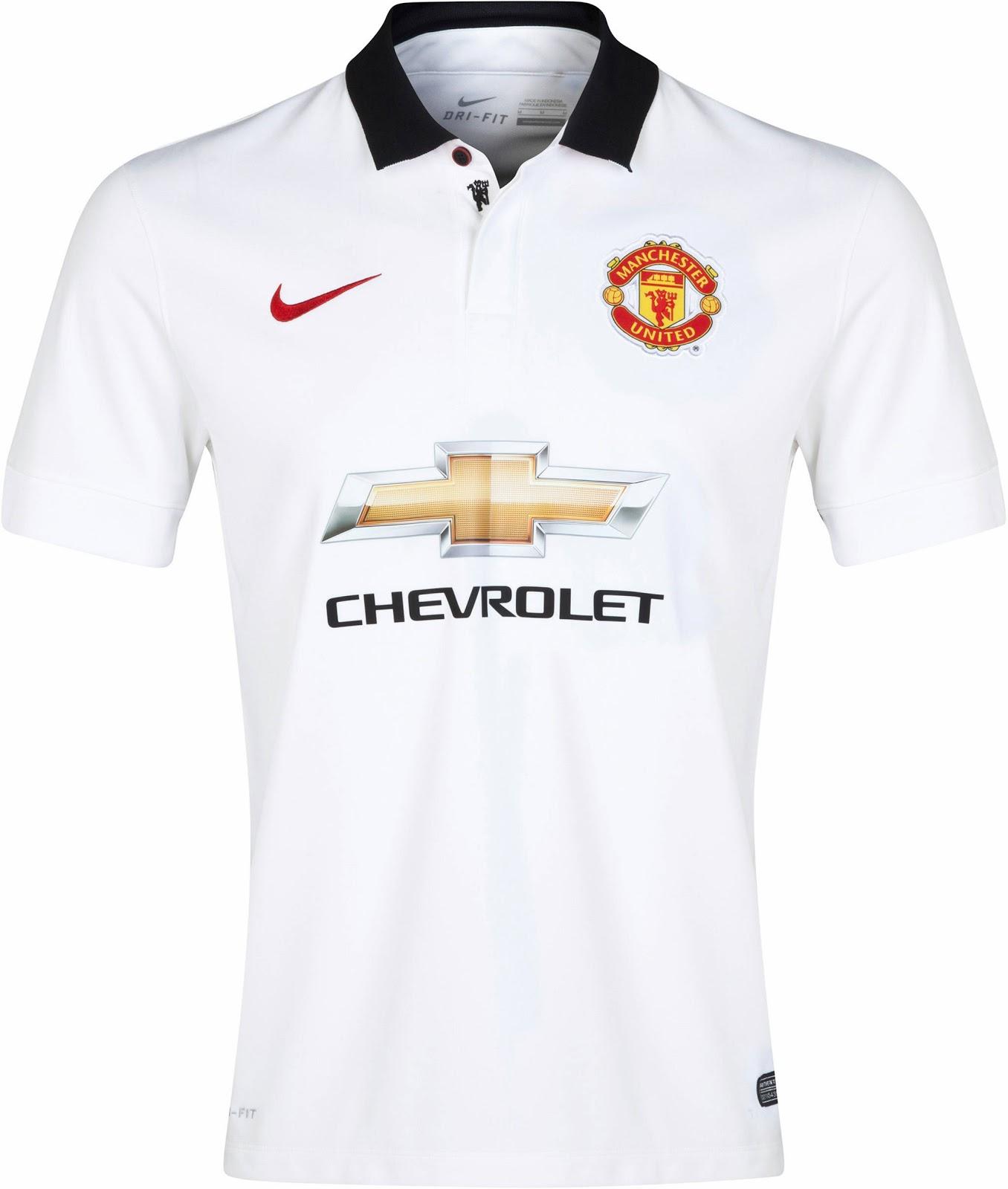 Quần áo bóng đá Manchester United sân nhà trắng 2014/15