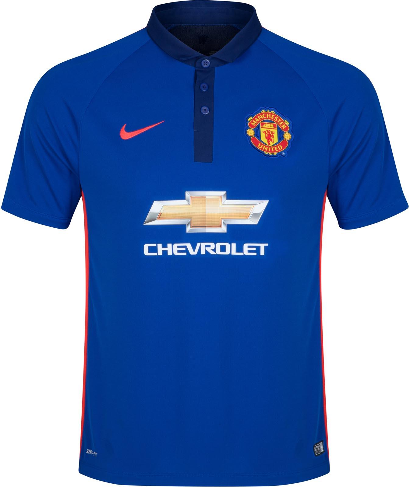 Quần áo bóng đá Manchester United xanh 2014/15