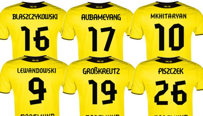 Mẫu in của câu lạc bộ Dortmund