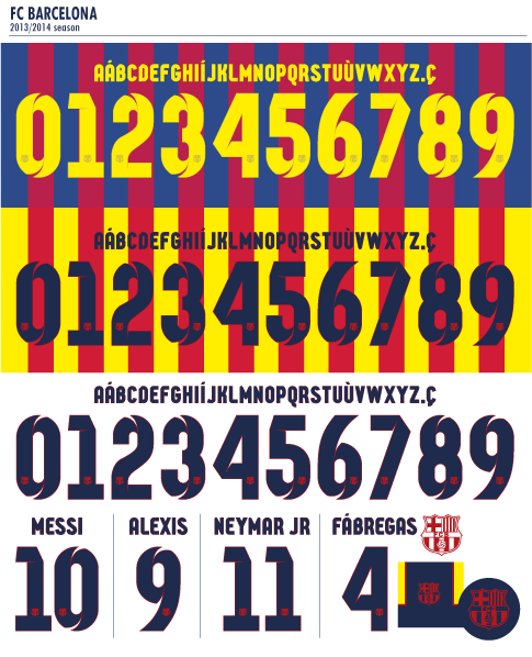 Mẫu in của câu lạc bộ Barca 2013