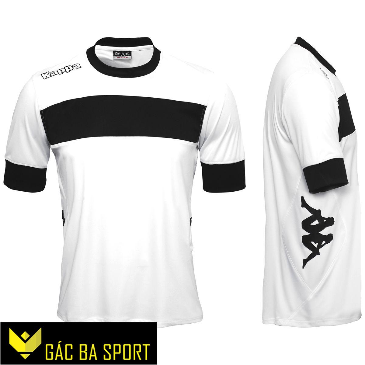 áo bóng đá không logo kappa trắng