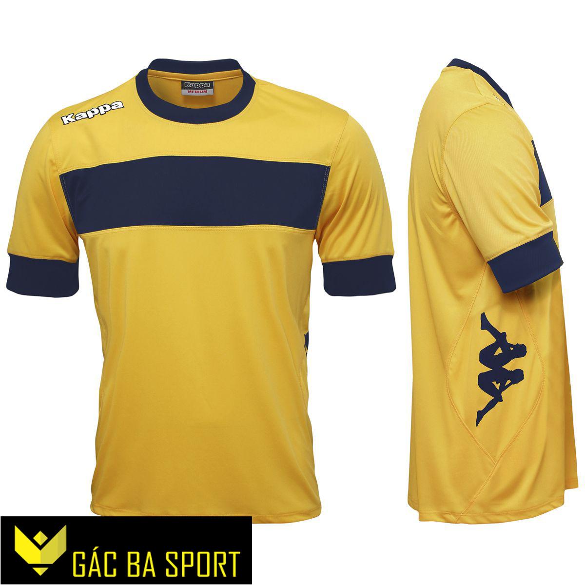 áo bóng đá không logo kappa vàng