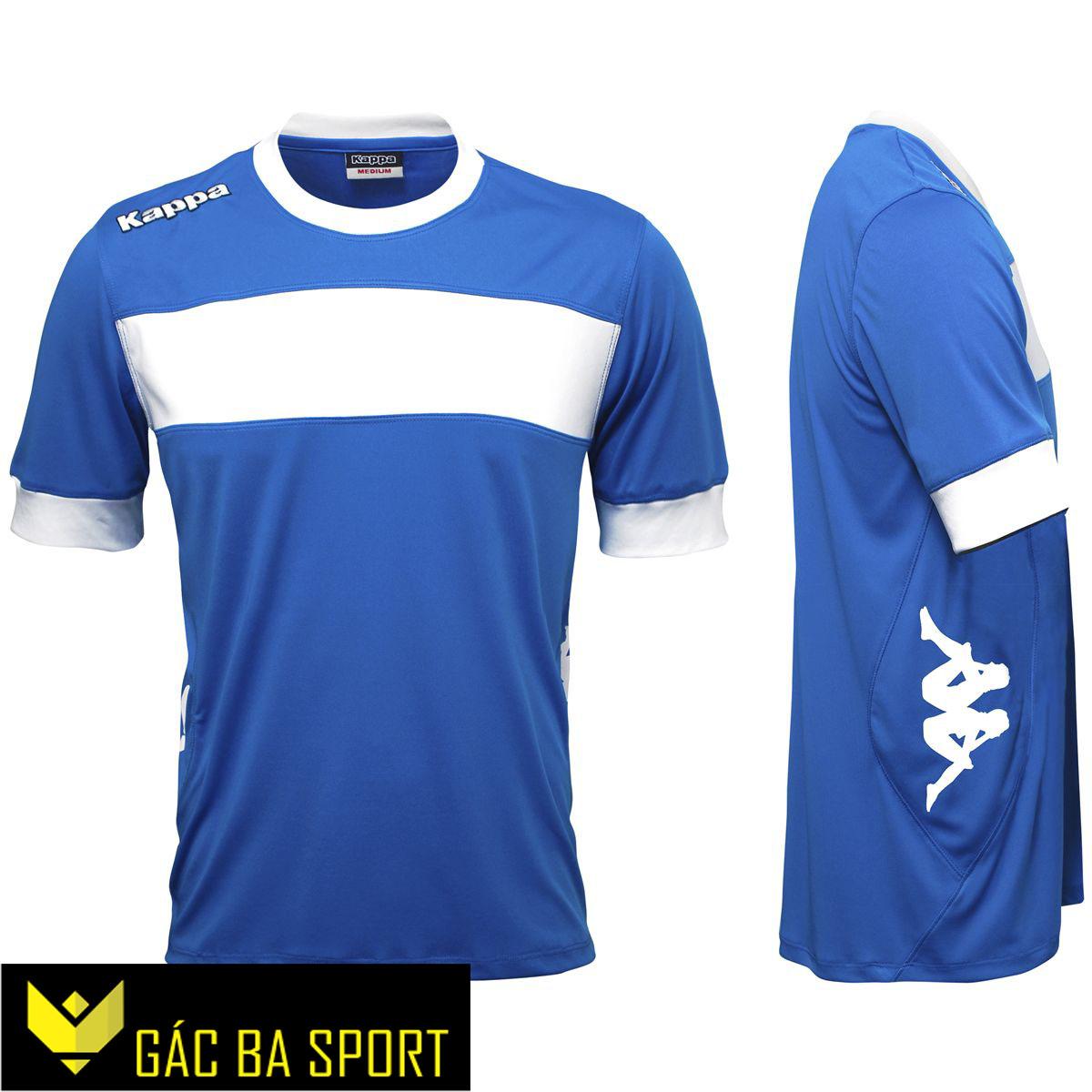 áo bóng đá không logo kappa xanh dương