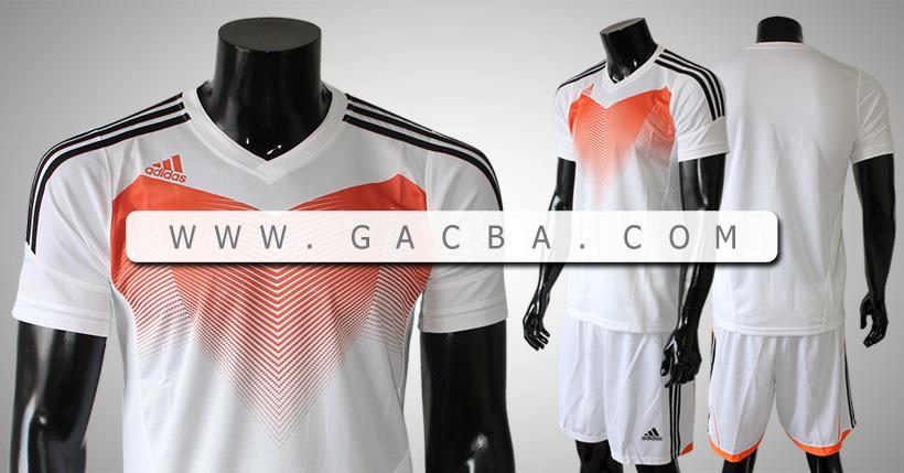 Quần áo bóng đá không logo Adidas Chiến Binh Trắng
