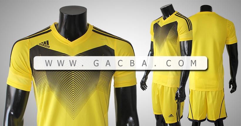 Quần áo bóng đá không logo Adidas Chiến Binh Vàng