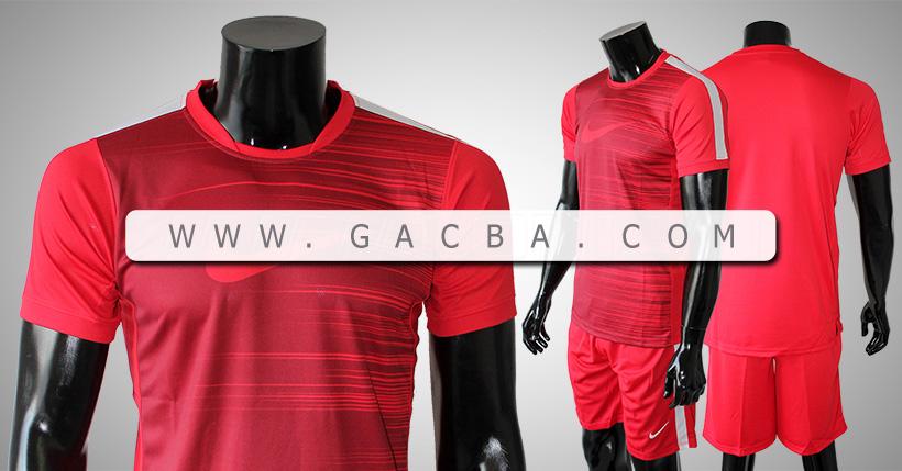 Quần áo bóng đá không logo Nike mã vạch đỏ