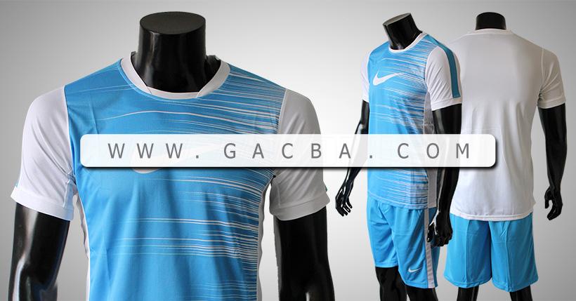 Quần áo bóng đá không logo Nike mã vạch trắng