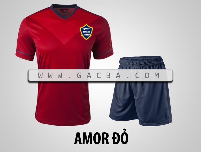 áo bóng đá không logo Armor đỏ