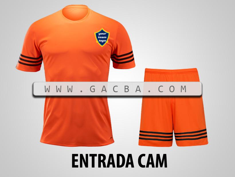 áo bóng đá không logo Entrada cam
