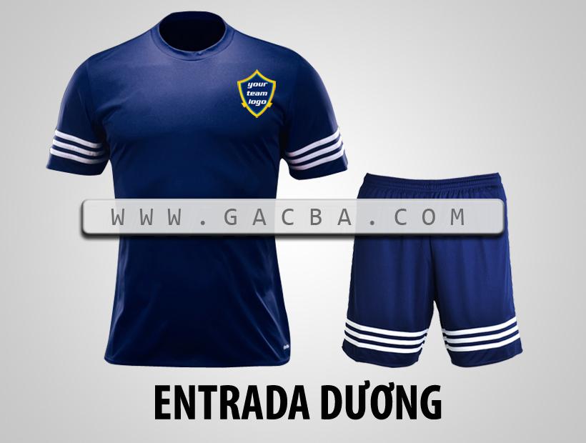 áo bóng đá không logo Entrada tím than
