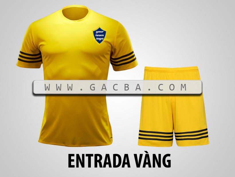 áo bóng đá không logo Entrada vàng