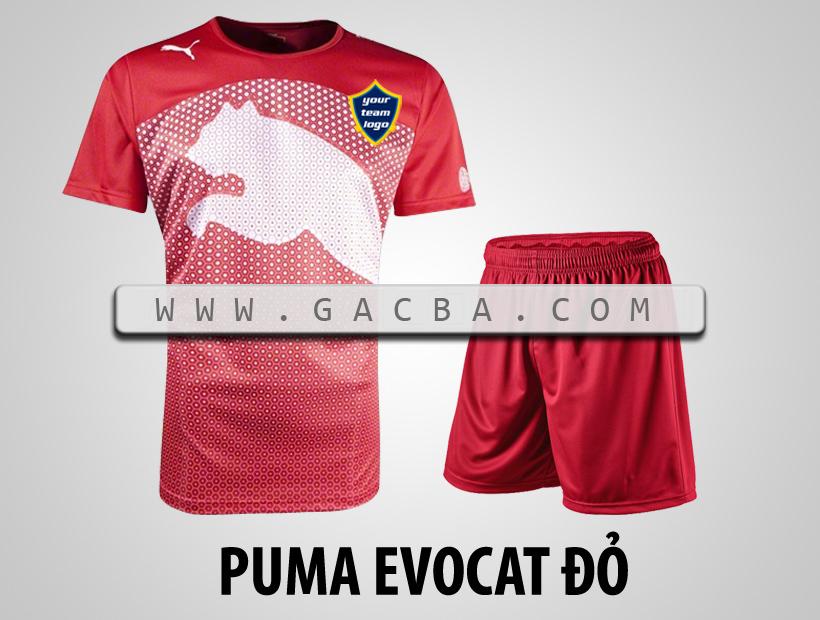 áo bóng đá không logo Puma Cat đỏ
