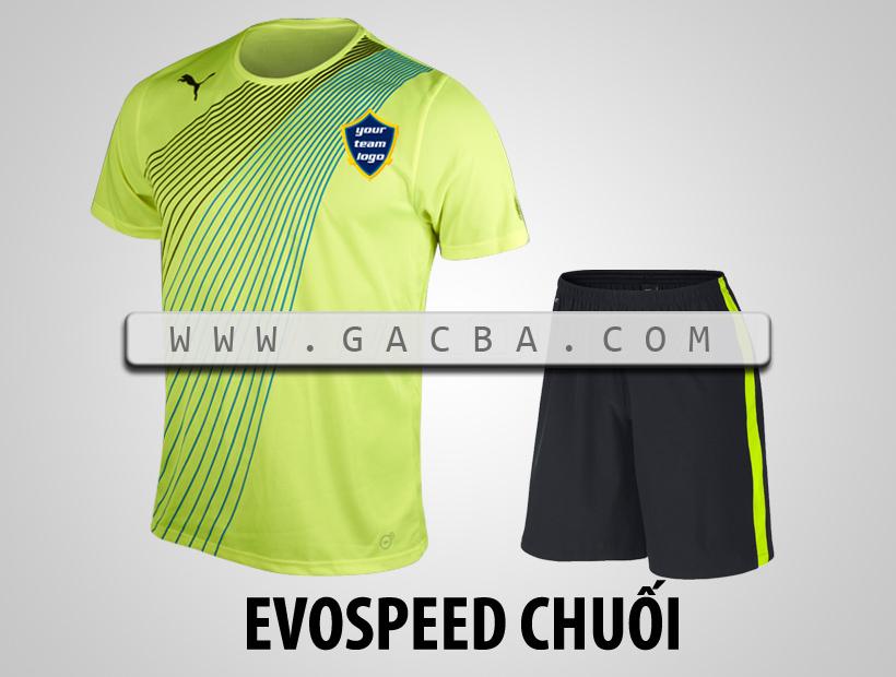 áo bóng đá không logo Puma Speed chuối