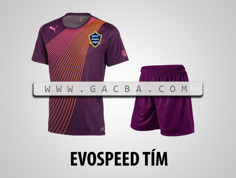 áo bóng đá không logo Puma Speed tím