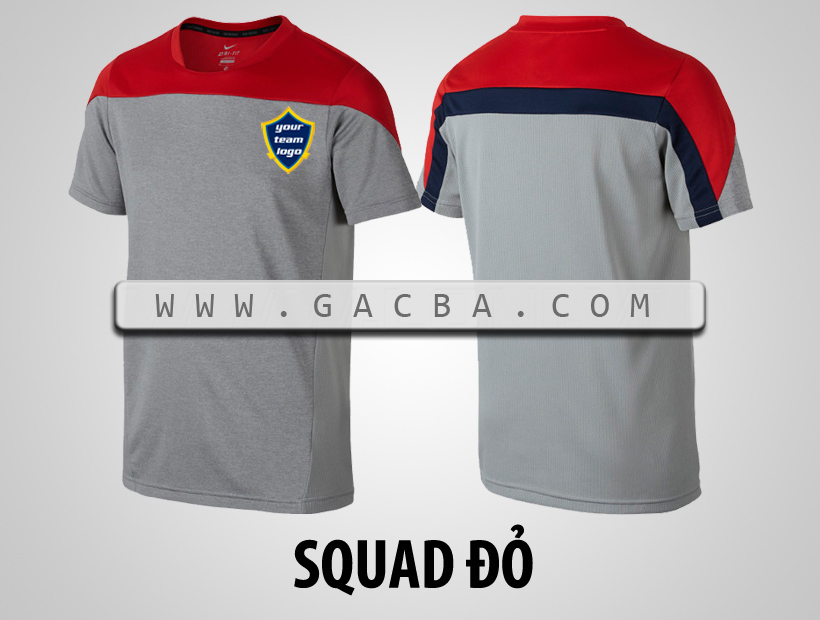 áo bóng đá không logo Squad đỏ