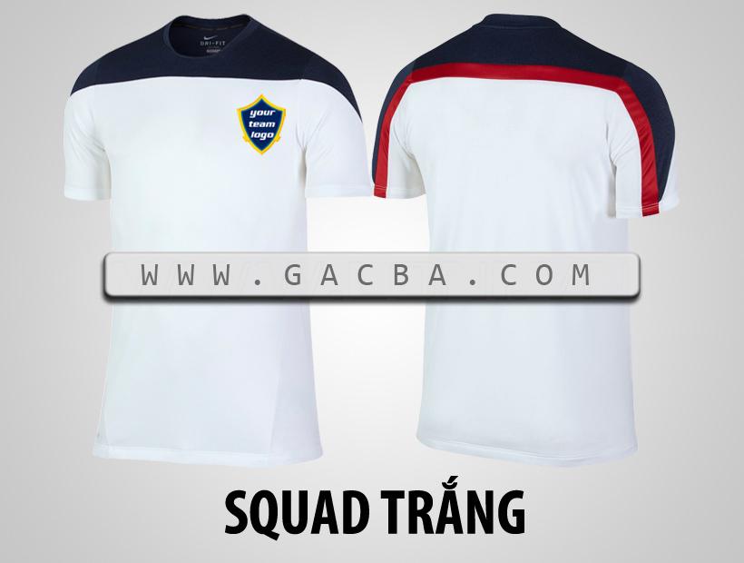 áo bóng đá không logo Squad trắng