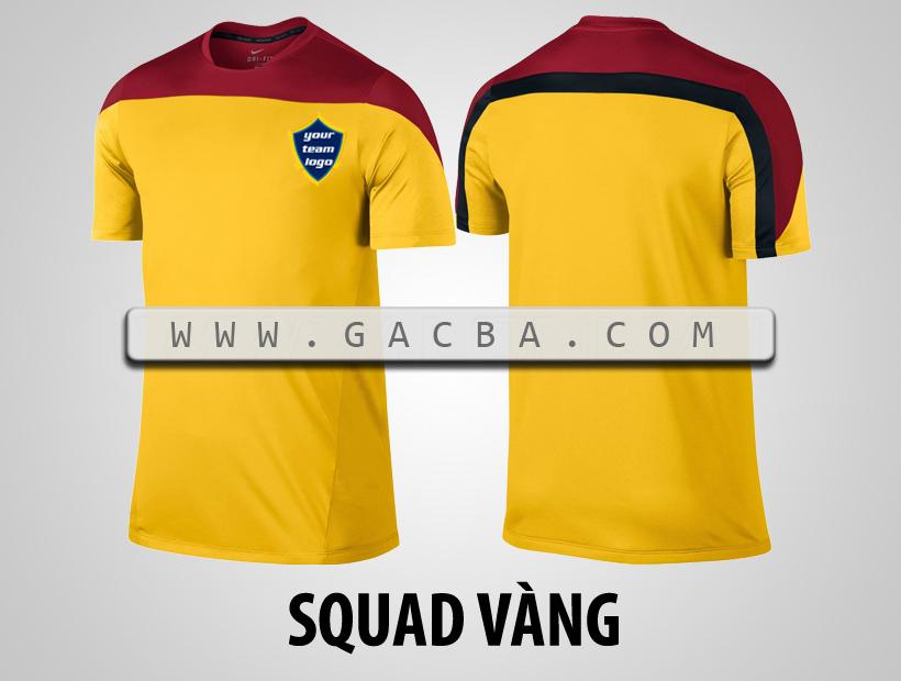 áo bóng đá không logo Squad vàng